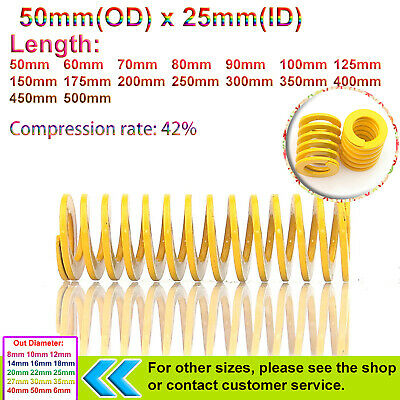 50mm O.D Light/Heavy Load Stamping Compression Mould Die Spring - Various Length
