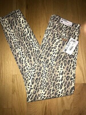 NWT $178  JOES The Charlie High Rise Skinny Ankle Animal Print Jeans Size 28