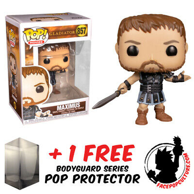 Funko Pop Vinyl Gladiator Maximus #857 Vinyl Figure + Pop Protector