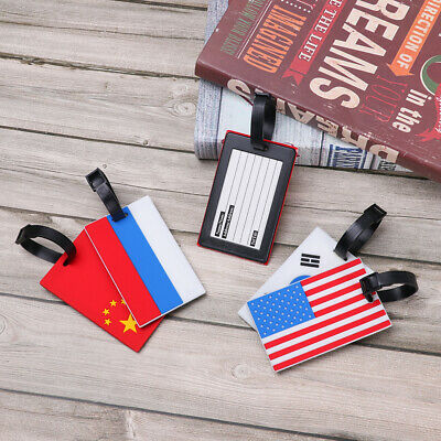 National Flag Suitcase Baggage Boarding Travel Tags Portable Label Luggage Tag