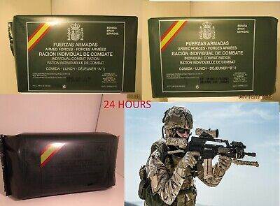 New Mre Lot 24 Hours Spanish Combat Rations. Menus A5, B2 And Breakfast. Es