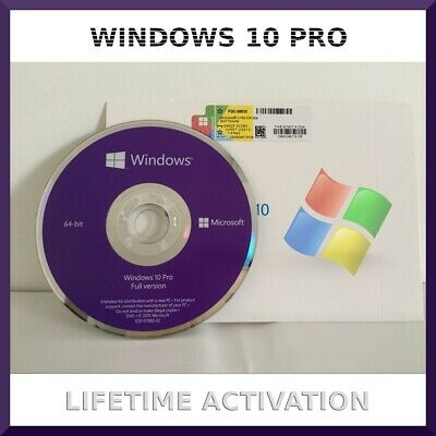 Microsoft Windows 10 PRO Professional 64bit No DVD Only Product Key + Hardware**