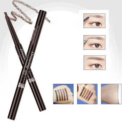 Double-Headed Waterproof Rotating Automatic Triangle Eyebrow Pencil + Brush Hot