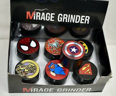 SuperHeroes, Villains 4 pc Metal Grinder for Tobacco, Herb, & Spice Grinder Use