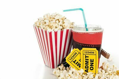 Qty: 2 AMC Theaters Black MOVIE TICKETS w/ PIN, 2 Large POPCORN & 2 Large DRINKS