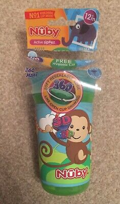 NEW Nuby Active Sipeez Monkey 360 Maxi Cup 3D Beaker Baby Toddler