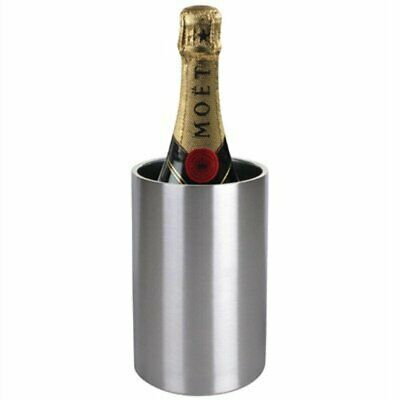 Olympia Brushed Stainless Steel Wine & Champagne Cooler C386 [31FX]