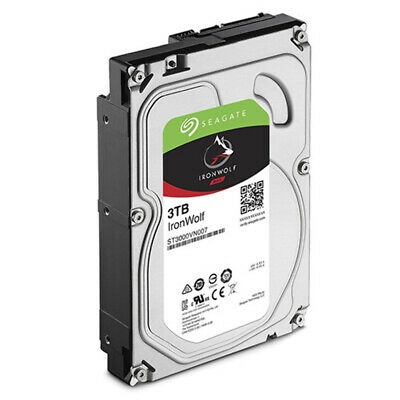 Seagate 3TB 3.5' IronWolf NAS 5900RPM SATA3 6Gb/s 64MB HDD. 3 Years Warranty [NC