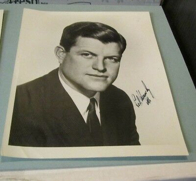 1960's United States Senator Ted Kennedy Autograph Signed Photo Ink Smearing