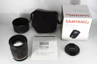 SAMYANG 50mm F1.2 AS UMC CS Black for Sony E lens EXC++