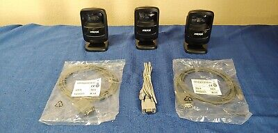 Lot of 3 Symbol DS9208-SR00114NNWW Barcode Scanners With Cables
