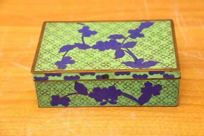 Fine Antique Chinese Cloisonne Enamel Box Fine  Cloisonne Box .