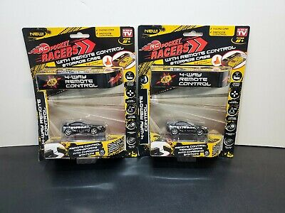 As Seen on TV RC Pocket Racers Remote Controlled Micro Race Car - Black 2pk