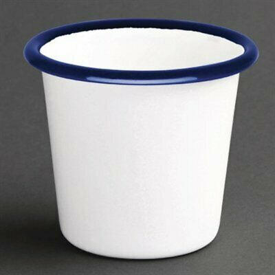 Olympia Enamel Sauce Cup White & Blue (Pack of 6) DC383 [163H]