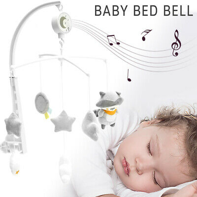 G4RCE Baby Newborn Cot Bed Pram Car Crib Buggy Musical Toy Mobile Light Project