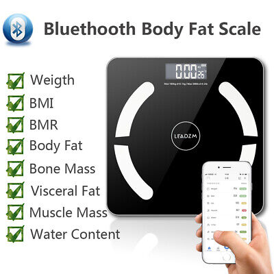 Digital Electronic Backlit Body fat Bathroom Scale 180KG scales Weight bluetooth