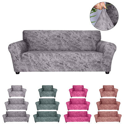 Removable Elastic Stretch Velvet Sofa Cover Slipcover Settee Couch  Protector