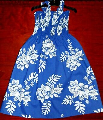 SZ 3 BLUE and PEACH/APRICOT (choices) COTTON SHIRRED TOP DRESS BRAND NEW