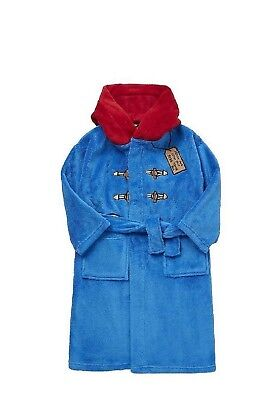 Paddington Bear Official Dressing Gown Kids Bathrobe/Bath Robe ~ Age 3-4