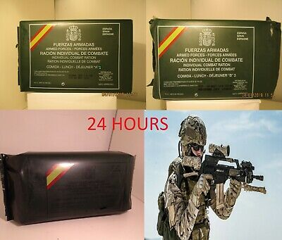 New Mre Lot 24 Hours Spanish Combat Rations. Menus A1, B3 And Breakfast. Es