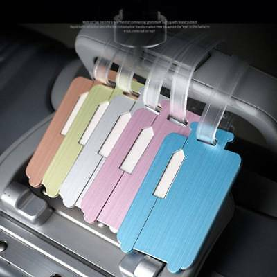 Creative Practical Luggage Aluminum Alloy Tag Suitcase Name Address ID Label
