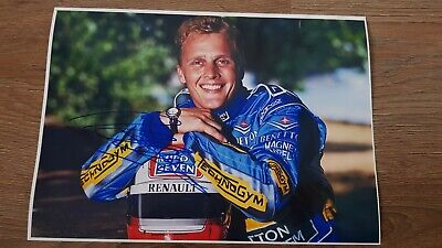 Johnny Herbert Formula 1 Driver Formula One Legend Hand Signed A4 Picture