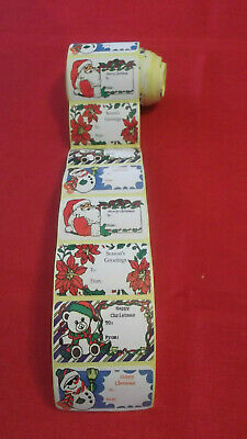 NEW  66 Christmas Sticker Gift Tags