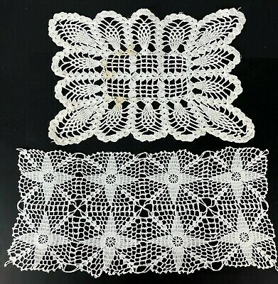 Vintage Doily Lot of 2 Very Pretty Perfect for Cottage Victorian or Shabby Chic