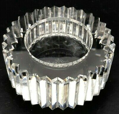 VTG Antique Rosenthal Crystal Open Salt Cellar Dip SIGNED HEAVY Fire Rare LARGE