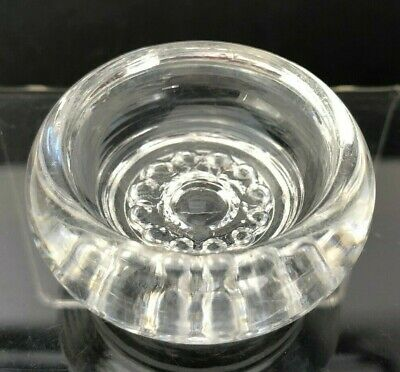 Vintage Antique Open Salt Cellar Dip Dish Round Clear Clear GLASS VTG Floral