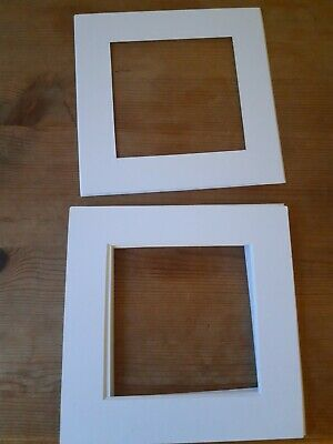 Pack of 8 White Picture mounts 6 X 6