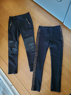 Girls Pants Pull on Stretch Skinny Leggings Lot 2 Pair Size Large