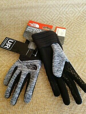The North Face Women's Gloves Size Small Indi E-Tip Gray $35 New