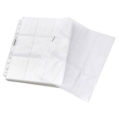 TYH Supplies 100-Pack 18 Pocket Economy 11 Hole Clear Coupon Protectors Top Load