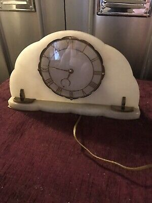 Vintage Smiths Marble Art Deco Mantle Clock.