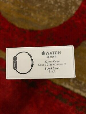 Apple Watch Series 3 GPS 42mm Space Gray Aluminum Case & Sport Band New Sealed