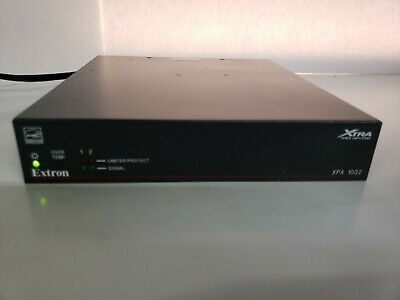 Extron XPA 1002 2 Channel Low High Impedance Amplifiers 100 Watts Per Channel