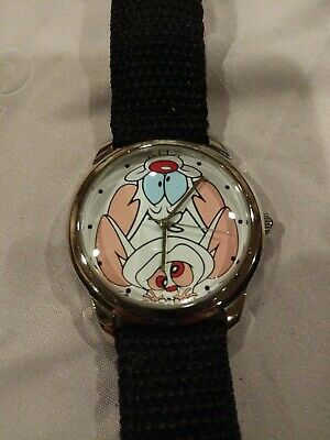The Warner Bros Watch Collection By Fossil Pinky And The Brain Rare Wrist Watch