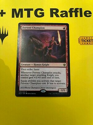 Fervent Champion Mtg Card Plus Magic The Gathering Raffle Ticket