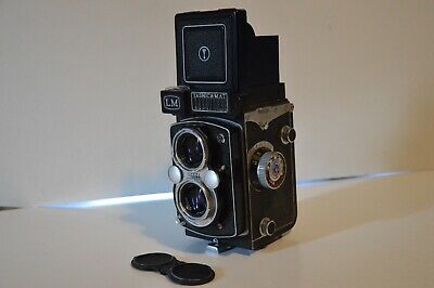 Yashica-Mat LM TLR Film Camera w/ 80mm Yashinon 3.5 Copal-MXV and CASE