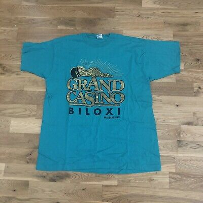 Vintage 90's Grand Casino Biloxi Mississippi T-Shirt XL Made USA Gambling Vegas