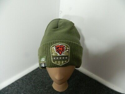 Chicago Bears Beanie Cap Hat New Era 2019 Salute to Service Cap NFL one size
