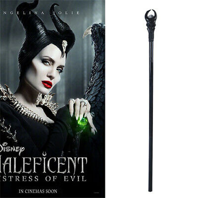 51.57'' Maleficent Angelina Witch LED Magic Wand Sceptre Cosplay Prop Halloween
