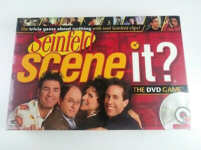 Scene It? Seinfeld Game Brand New Sealed 2008 DVD Board Game Trivia Interactive