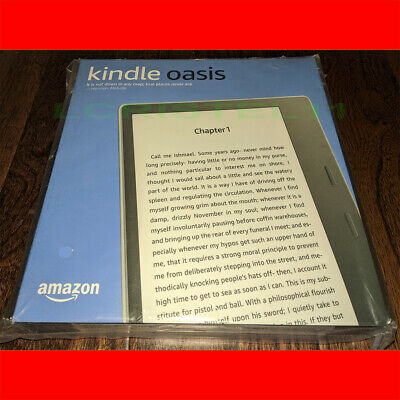 NEW - Amazon Kindle Oasis 32GB, Wi-Fi, 7in - Graphite - 9th Generation NO ADS