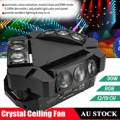 Dimmable LED RGB Light Laser Projector Stage Light For Xmas Party KTV DJ Disco