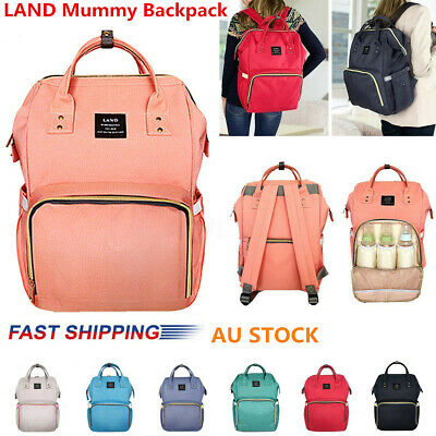 GENUINE LAND Baby Diaper Backpack Changing Bag Nappy Mummy Backpack Travel Bag