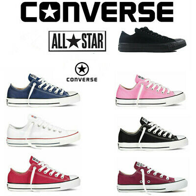Converse All Star Chuck Taylor Unisex Mens Womens Low Tops Trainers Canvas Shoes