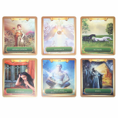 53 Full Color Cards Energy Oracle Tarot Cards Deck Kit Set Fantasy Cards Lizzj
