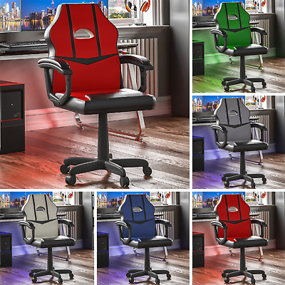 Racing Gaming Office Chair Executive Home Swivel Leather Sport Computer Desk